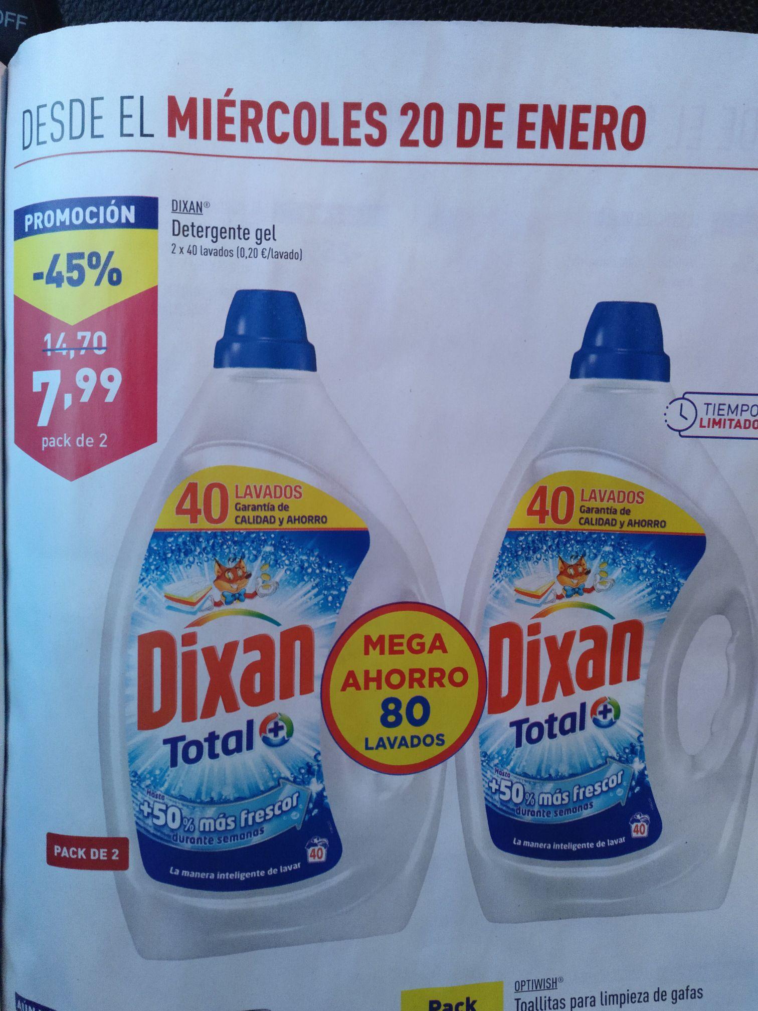 [ALDI] DIXAN Detergente Pack 2 (80 lavados)