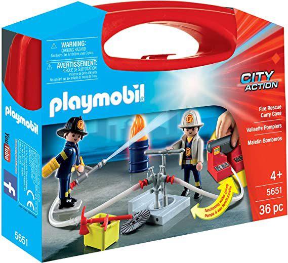 Maletín Playmobil City Action - Bomberos