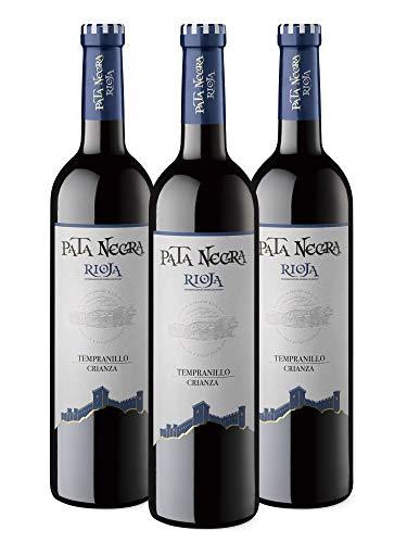 Pack de 3,Vino Tinto D.O. Rioja Pata Negra Crianza, 750 ml