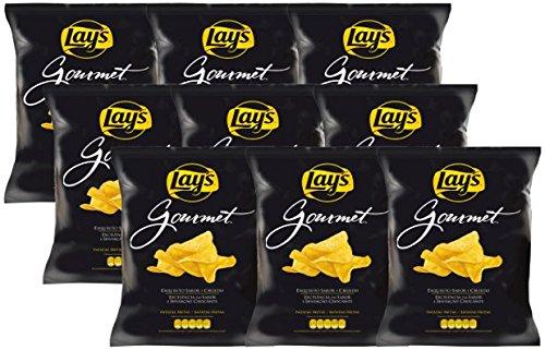 Pack de 9 bolsas de Patatas Fritas, Lay's Gourmet, 180 gr unidad