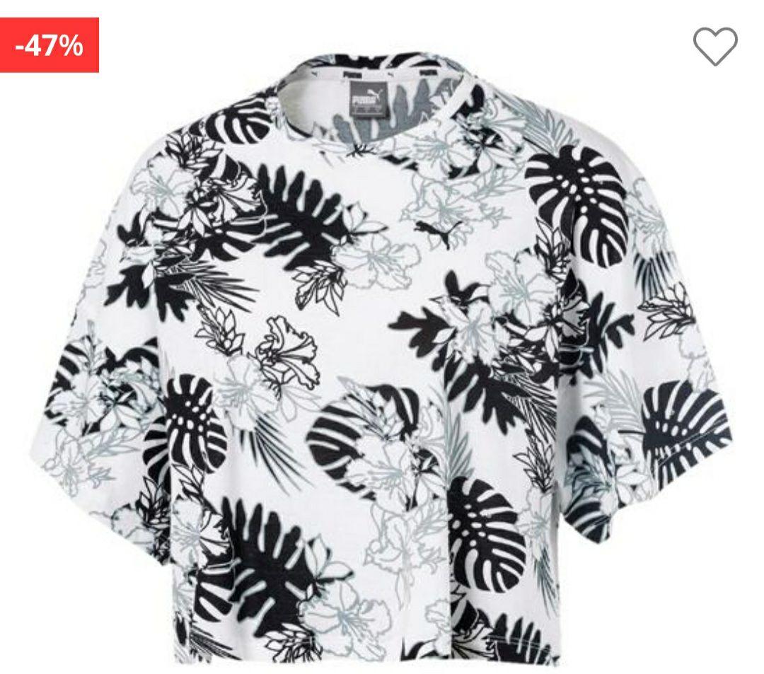Camiseta Crop Puma Tropical