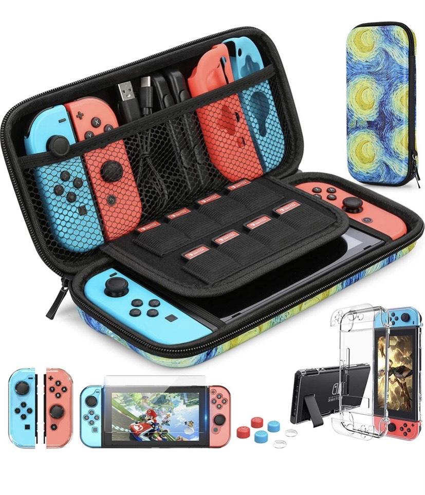 Funda para Nintendo Switch más accesorios