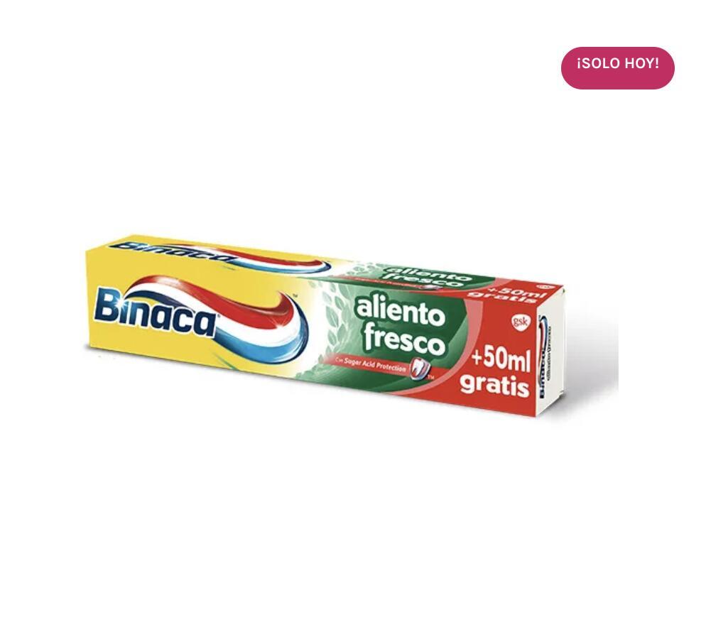 Pasta de dientes BINACA 125ml.