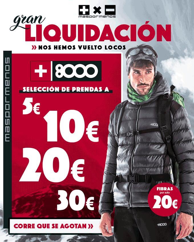 Liquidación +8000: 5€, 10€, 20€, 30€ (Chaquetas, Polares, Pantalones.....)