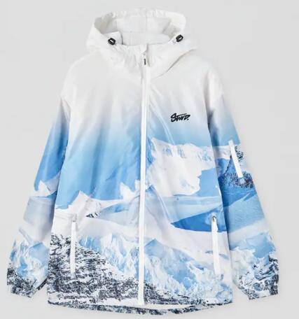 Cazadora diseño nieve para dar el cante esquiando o haciendo snow (tallas M y L)