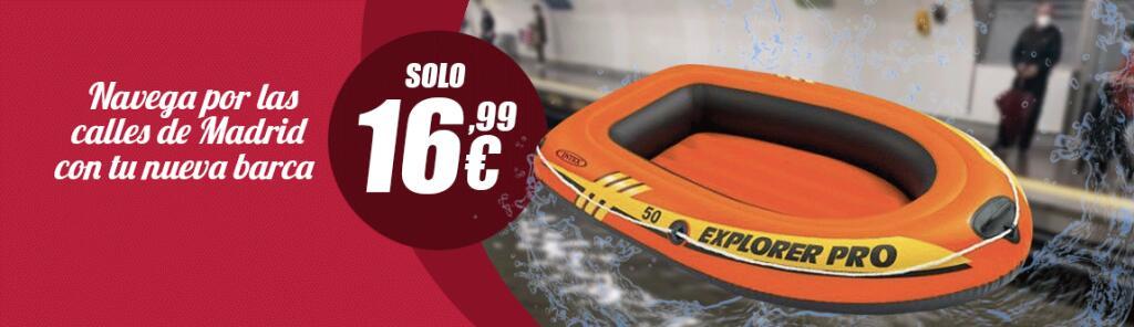 Barca Explorer. Disfruta de tu nueva Barca Explorer por las calles de Madrid