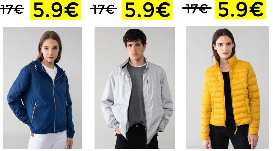 Cazadoras para hombre y mujer por solo 5.9€