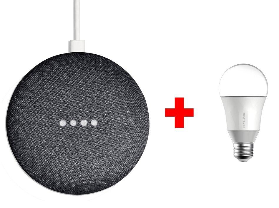 Google Home Mini + Bombilla TP-Link LB100