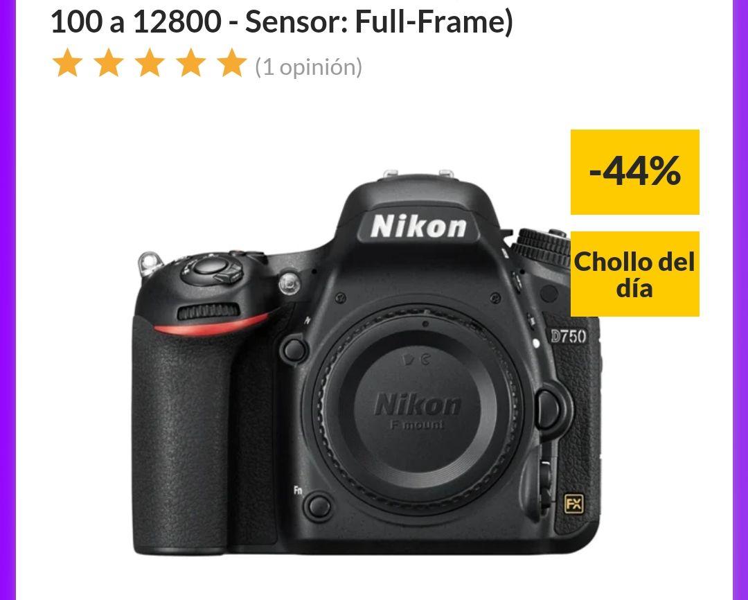 Cámara Réflex NIKON D750 (24.9 MP - ISO: 100 a 12800 - Sensor: Full-Frame)