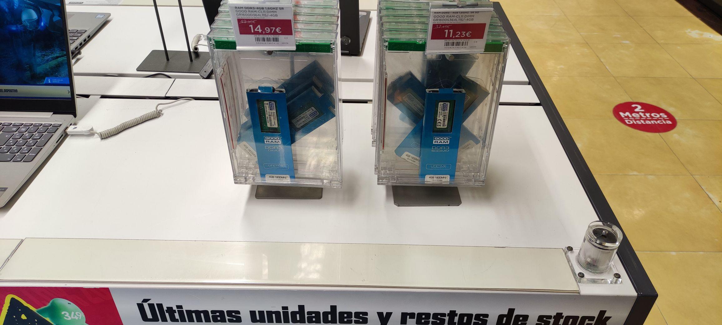 Memoria RAM 4 GB DDR3 1600 MHz CL11 Goodram(ECI Elche)
