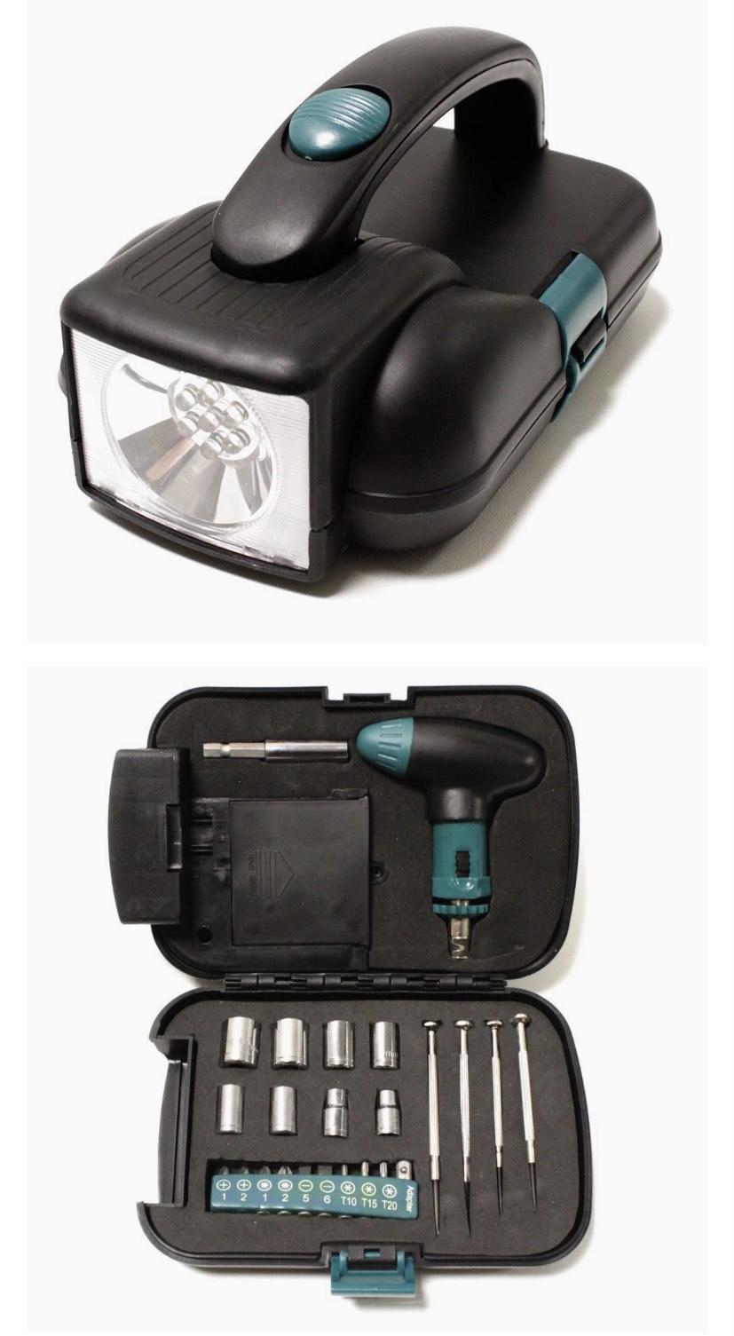 Cablematic - Caja de herramientas con linterna de 7LED leer descripción