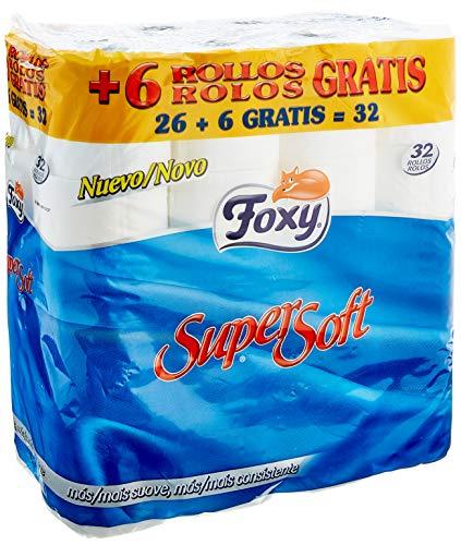 Foxy - Papel Higienico Supersoft 32 rollos (6'80€ compra recurrente) o 12 rollos 2'39€ EN CASA!!