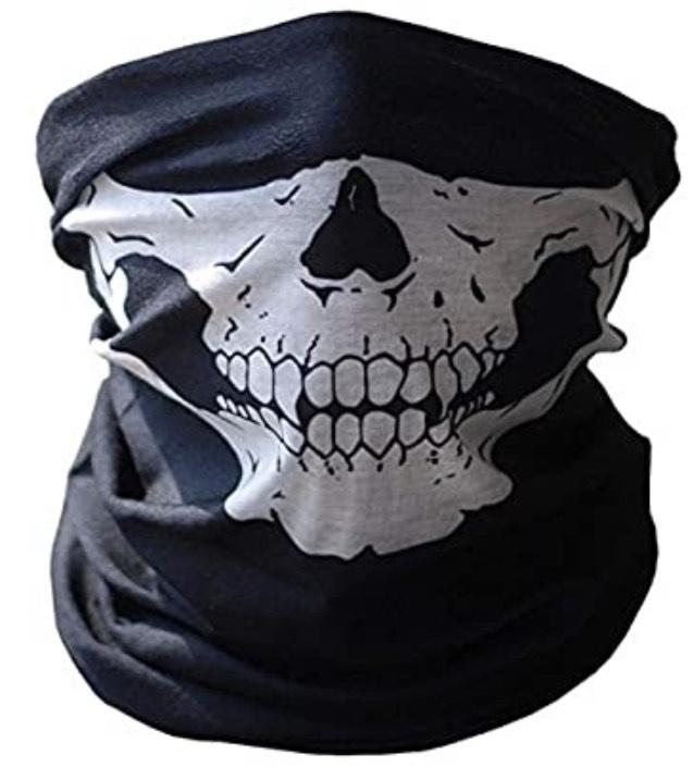 Braga de cuello con diseño de calavera de Ghost