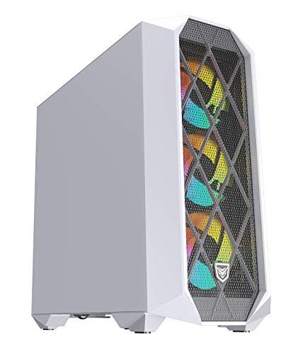 Nfortec Synistra Torre Gaming ATX 3.0 RGB con Frontal Mallado, más de 20 Modos de iluminación