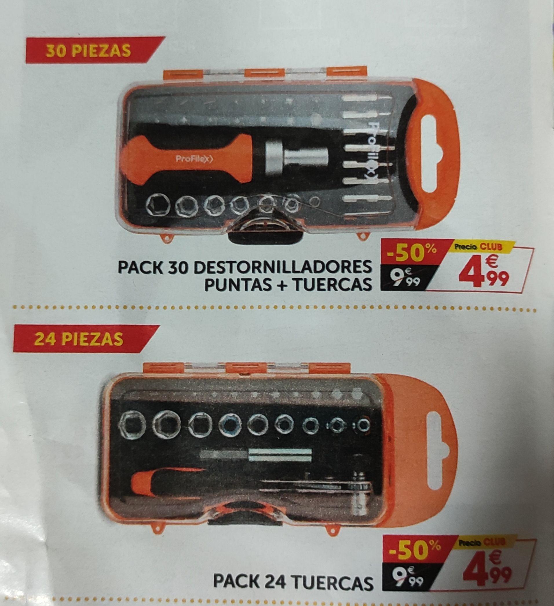 Pack destornillador + puntas y tuercas (GIFI)