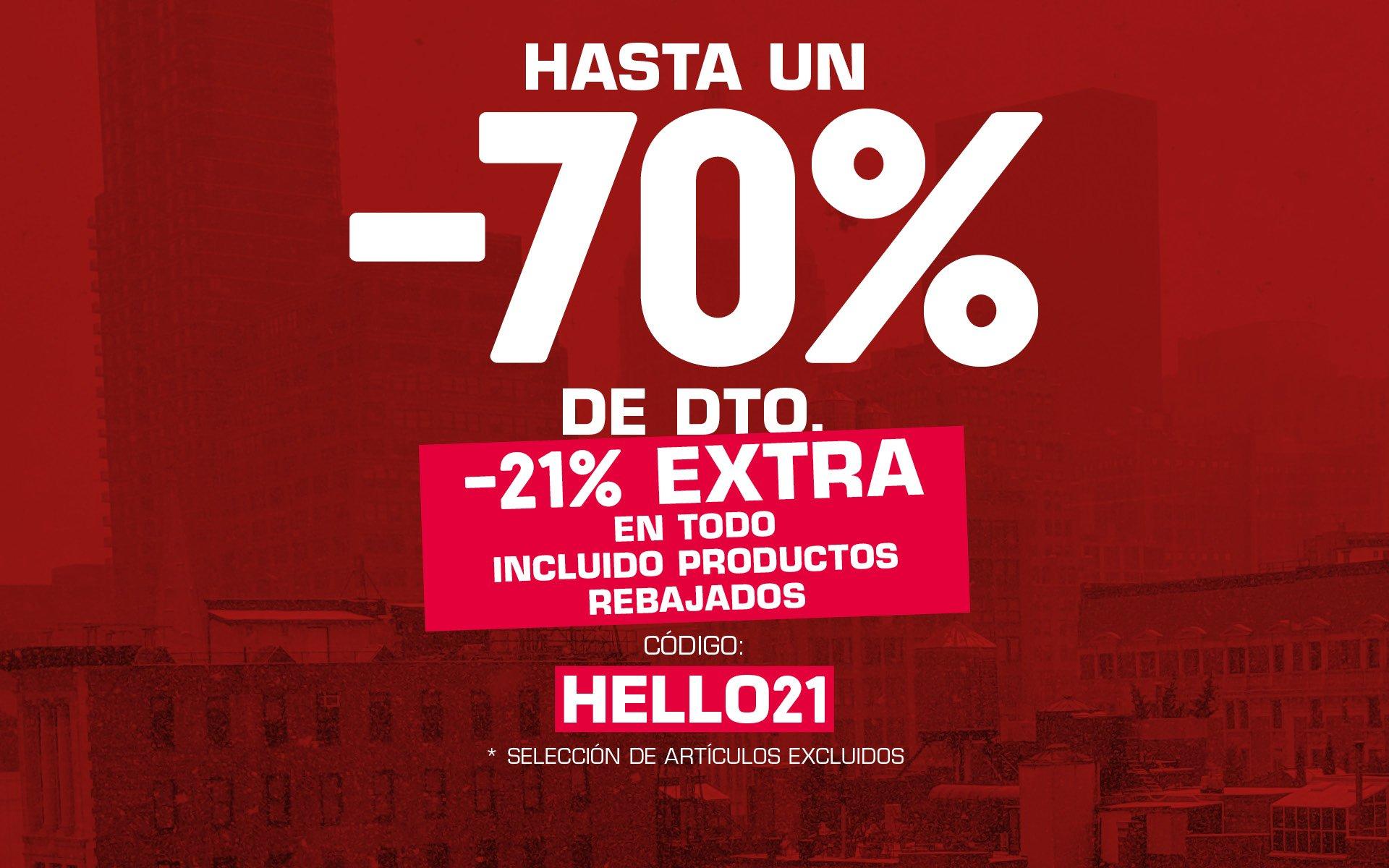 ¡ -21% EXTRA (INCL. REBAJAS) + ENVÍOS GRATIS EN SNIPES ! CÓDIGO: HELLO21