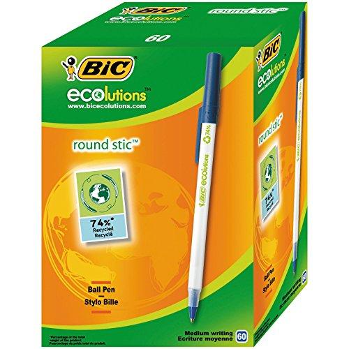 Caja 60 Bolígrafos BIC 74% material reciclado