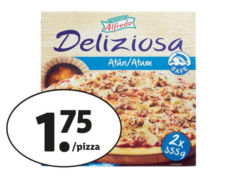 Pizza de atún al horno de piedra PACK de 2 en LIDL (1.75/ pizza) 3.50€