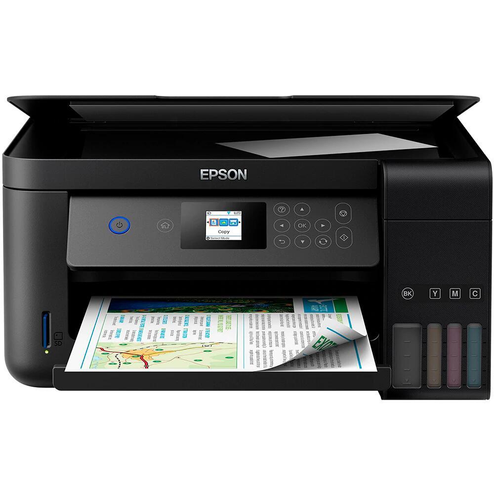 Impresora multifunción tinta EPSON EcoTank ET-2750 – Impresión a doble cara sin cartuchos, copia, escáner, ranura microSD, Wi-Fi