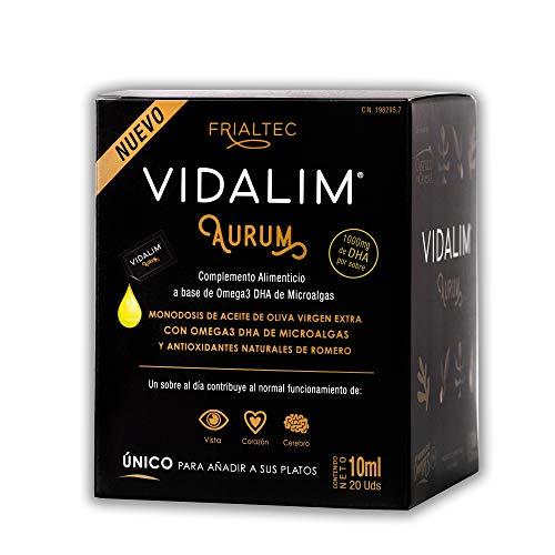 Vidalim Aurum. Omega 3 en Aceite de Oliva (1000mg DHA/sobre) - Sin cápsulas - Sin sabor a pescado