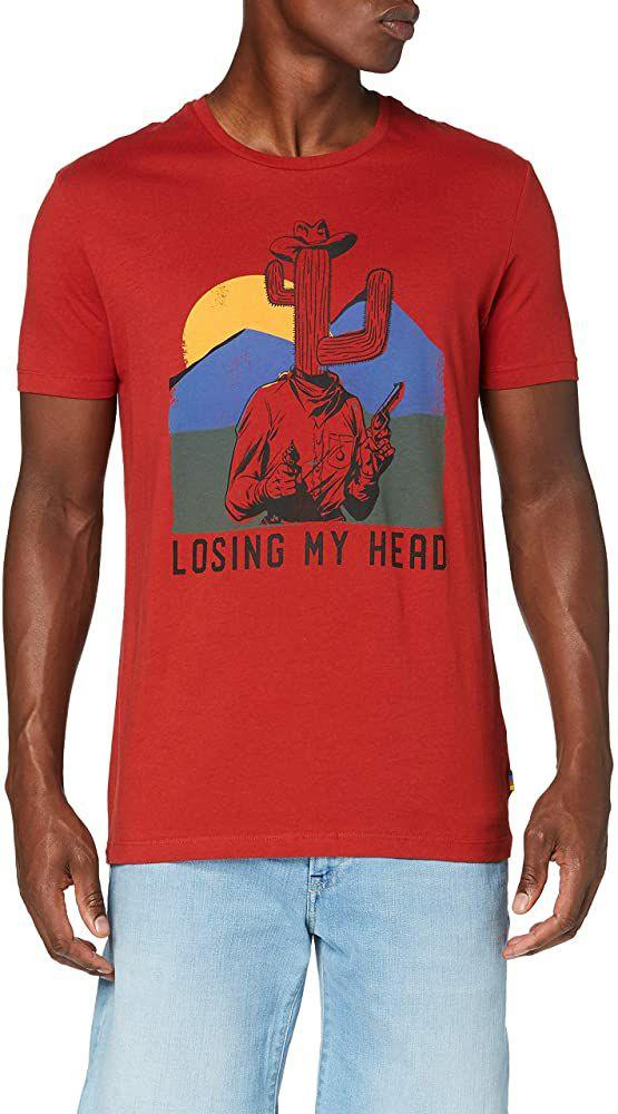 TALLA S - Springfield Camiseta para Hombre