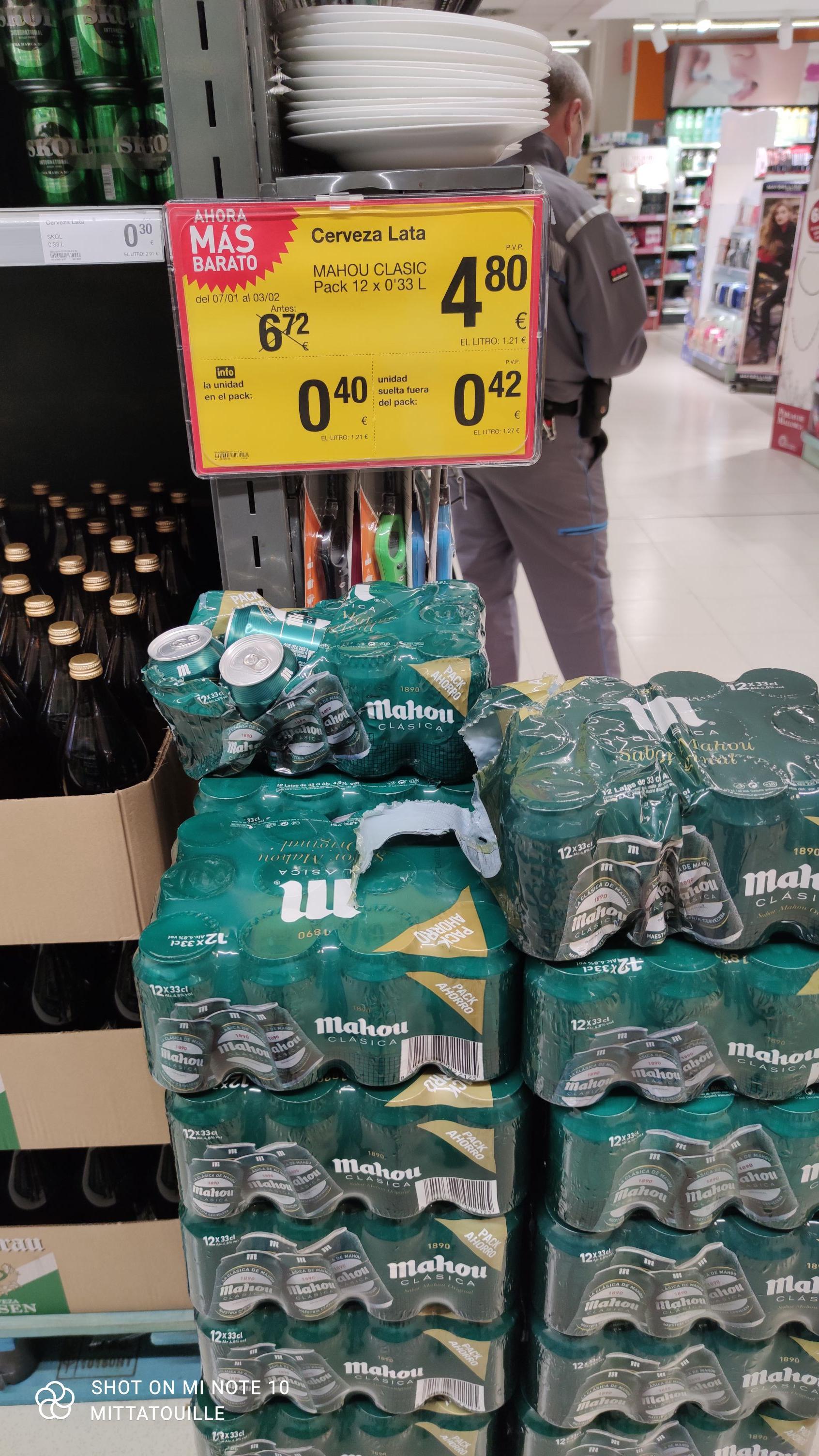 Mahou Clásica lata 33cl en supermercados CONSUM. Actualizado a 10-2-2021