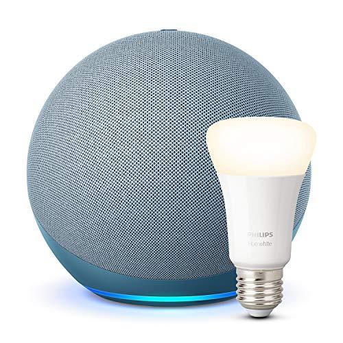 Echo (4.ª generación) + Philips Hue White Bombilla LED E27