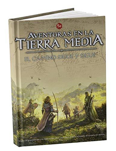 Libro para juego de Rol. Aventuras en la Tierra Media: El Camino Sigue (expansión)