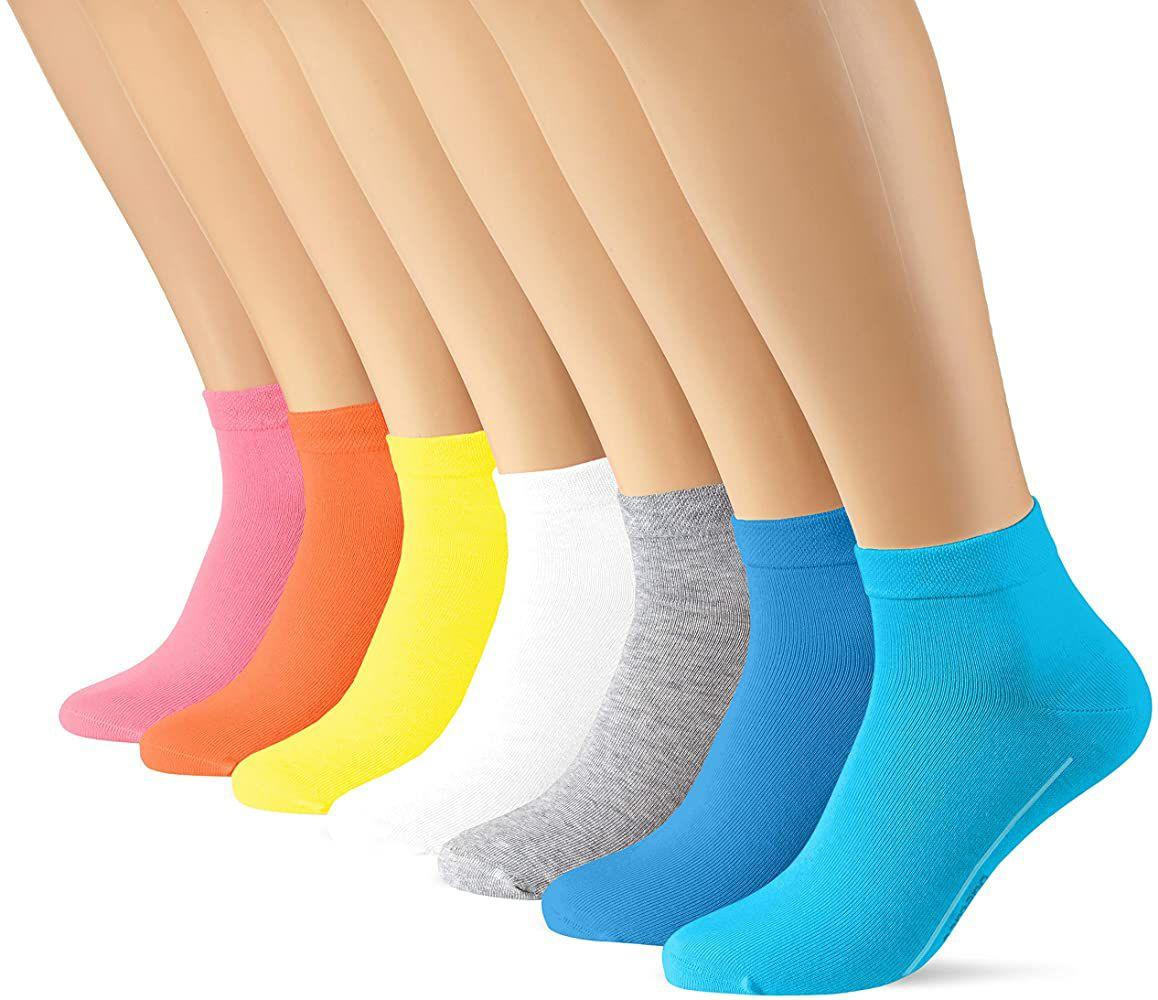 TALLA 35/38 - Camano Calcetines cortos (Pack de 7)