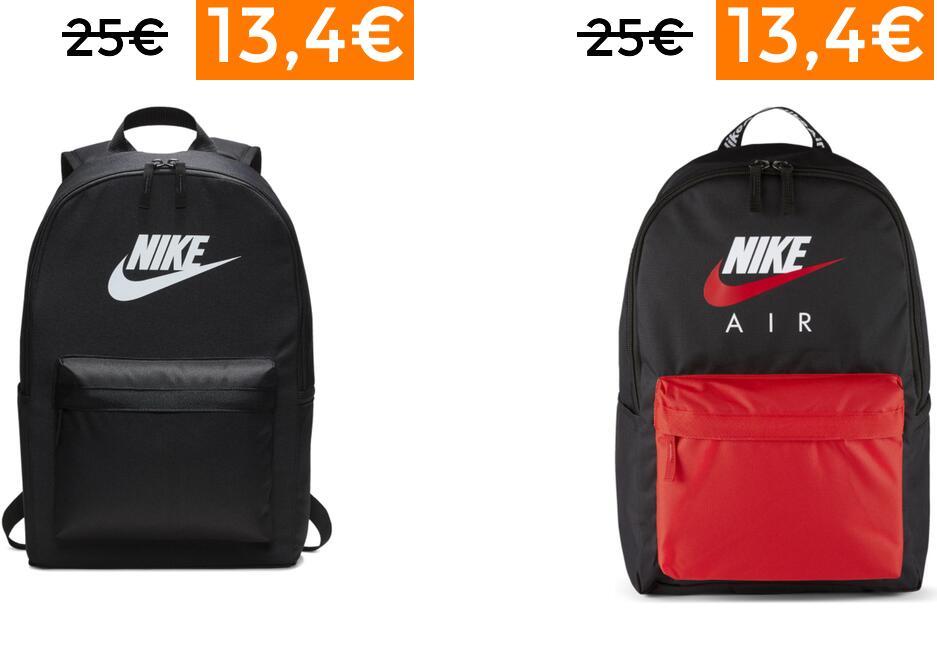 Mochilas Nike por 13,40€