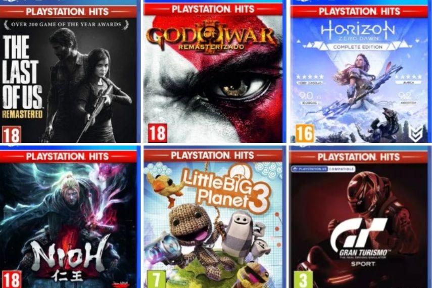 ( PlayStation Hits ) desde 9,50 hasta 9,95/ Horizon Zero Dawn, God Of War lll y más.