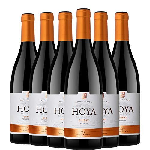 Pack de 6 Botellas de Vino Tinto de Hoya de Cadenas Reserva Shiraz Crianza, 750 ml