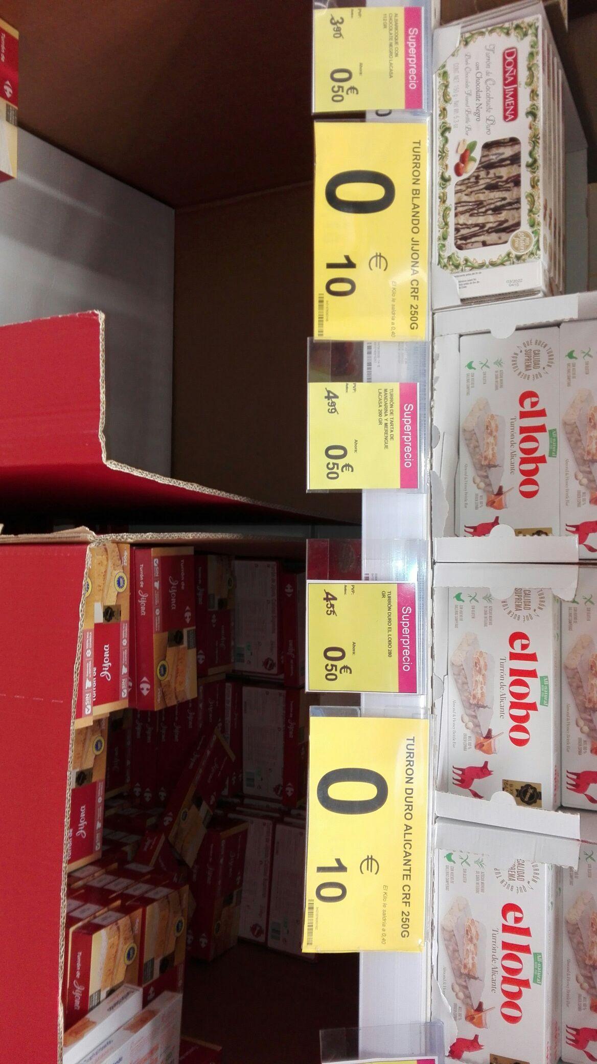 Turrones a 0.10 y 0.50 €