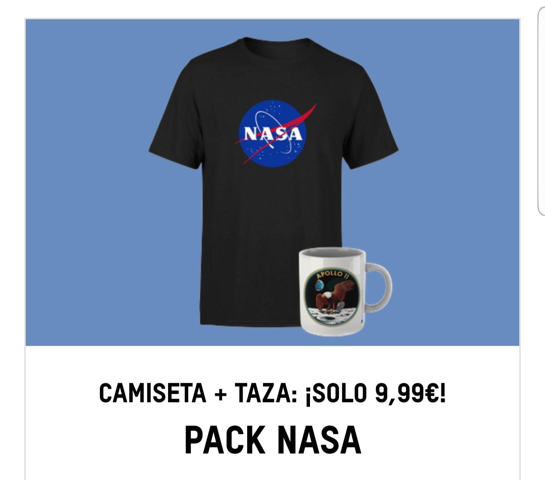Camiseta + Taza de la NASA por 9,99€
