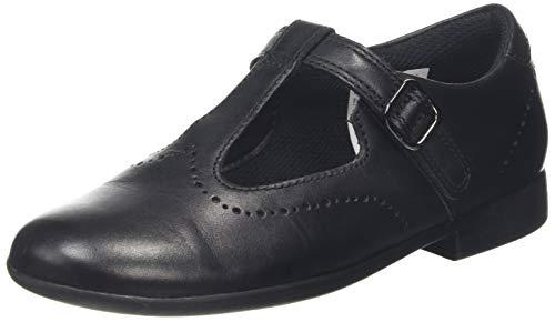 Clarks zapatos Punta Cerrada para Niñas, Negro, piel talla 31 EU
