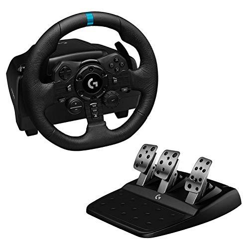 Logitech G923 Volante y Pedales de Carrera TRUEFORCE 1000 Hz Force Feedback para PS5 PS4 y PC