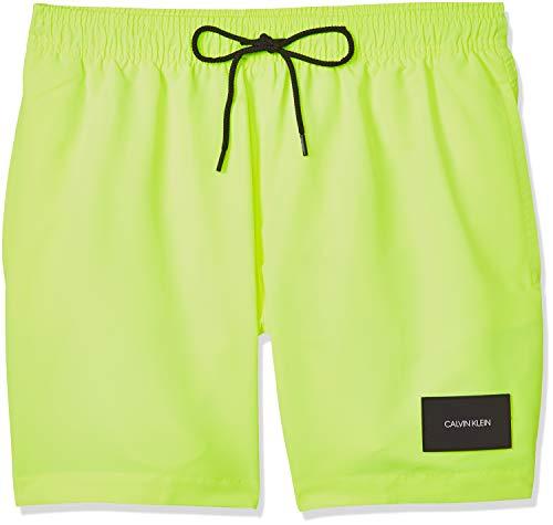 Calvin Klein, Bañador para Hombre, verde fosforito, talla L.