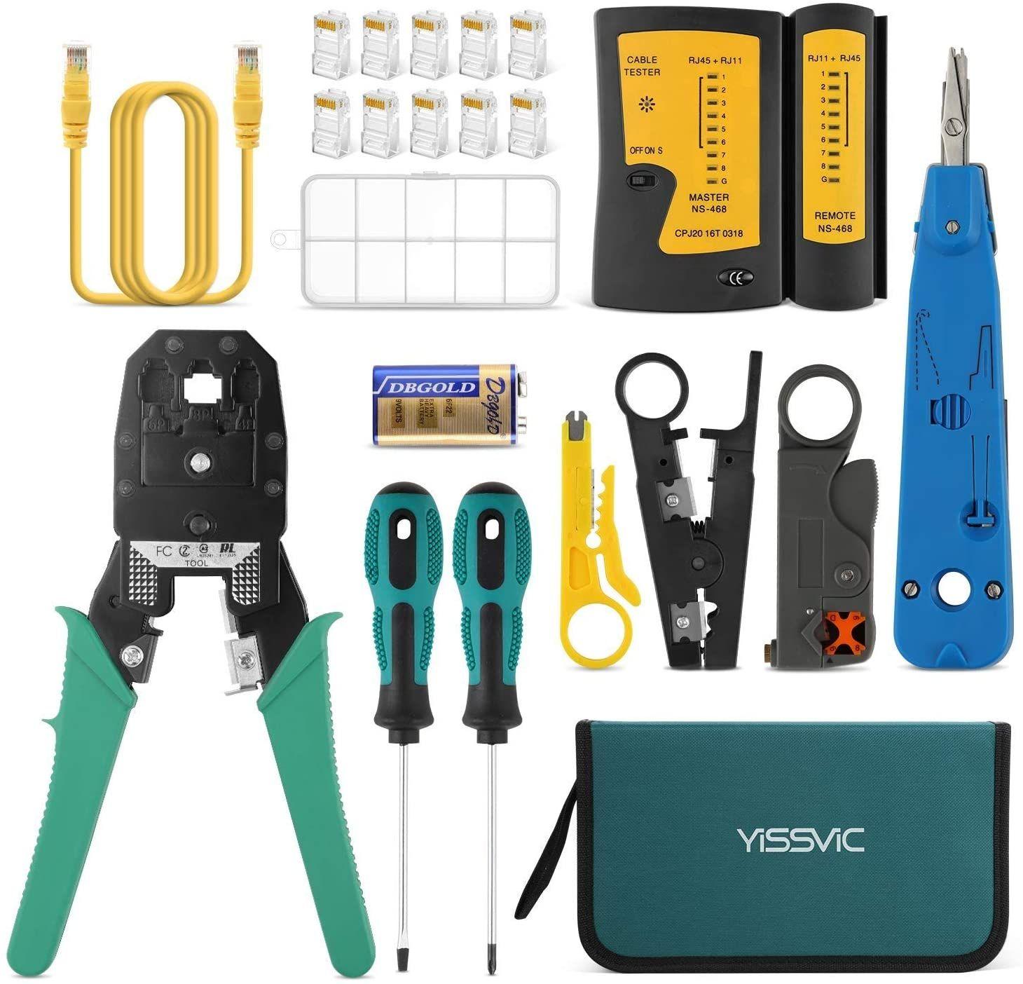 Comprobador de Cable de Red Kit de Herramientas de Reparación de Red