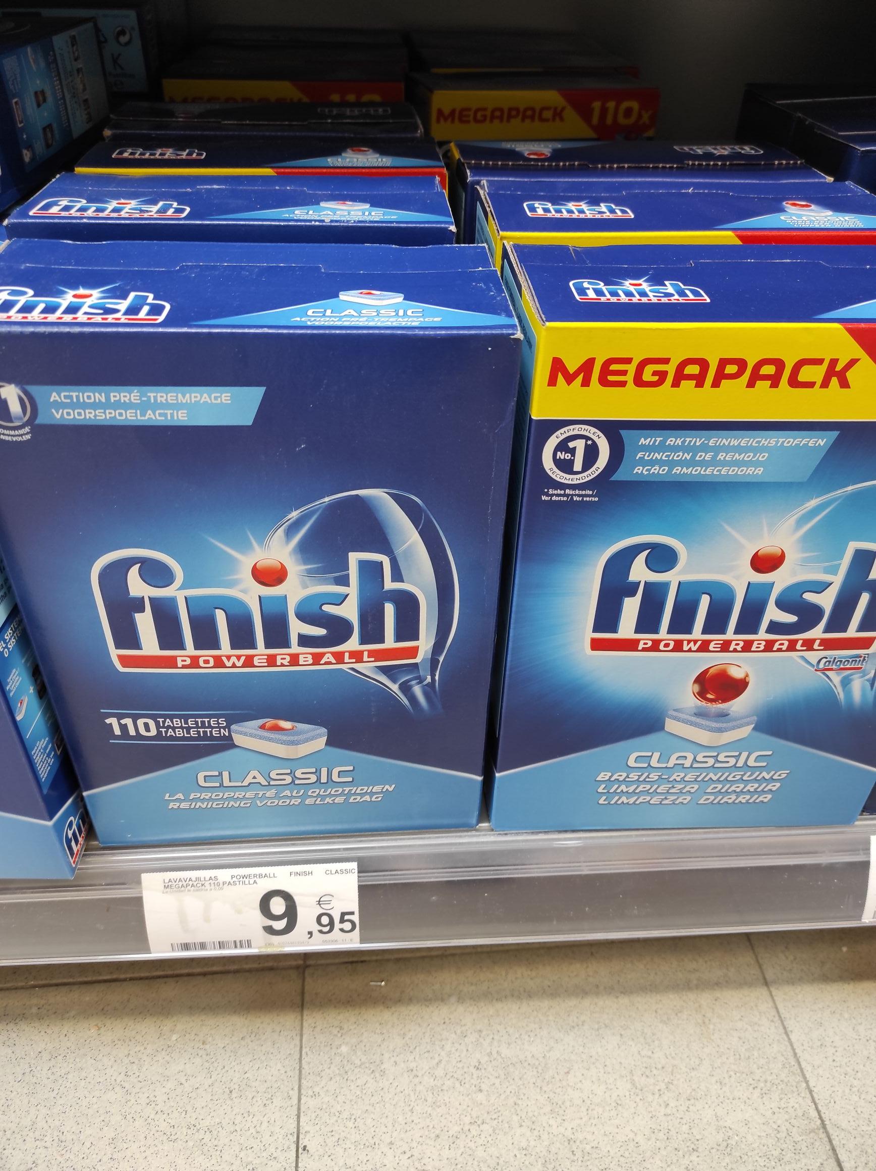 Pastillas finish lavavajillas 110 unidades