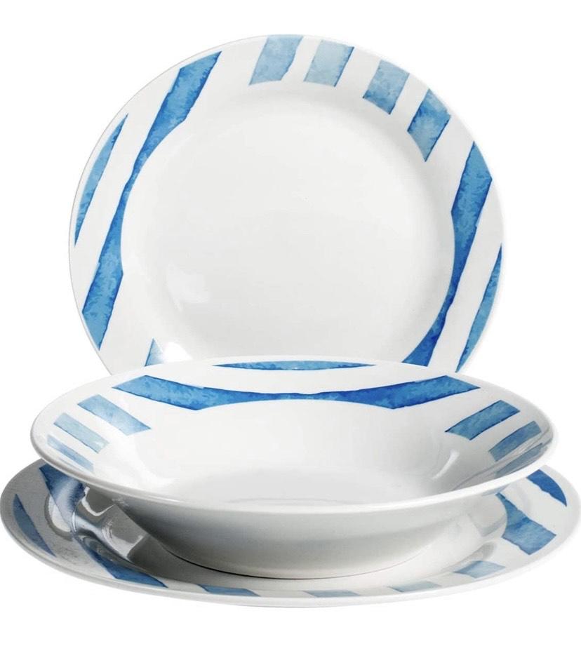 Vajilla de porcelana (18 piezas)