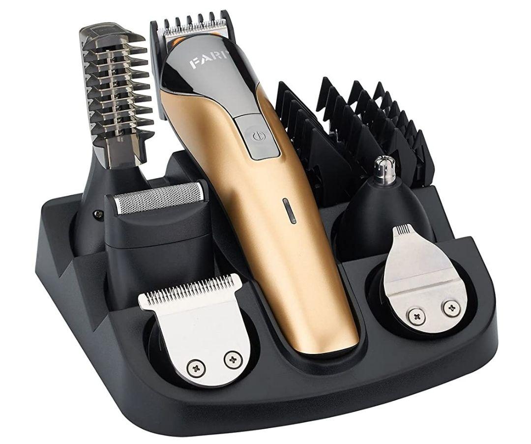 Juego de recortadores de barba,cortapelos recargable,recortador de nariz y kit de afeitadora corporal