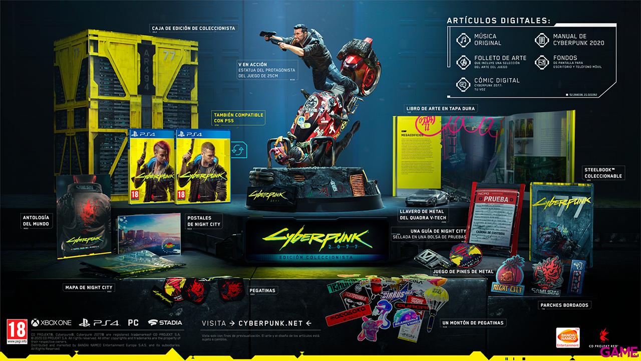 CYBERPUNK 2077 EDICIÓN COLECCIONISTA PS4 & XBOX