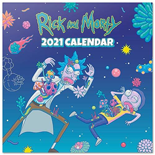 Calendario de pared 2021 Rick & Morty, 30x30 cm, Producto Oficial (Incluye póster de regalo)