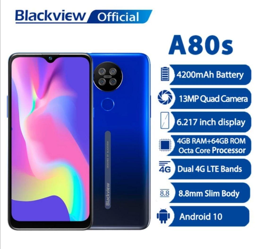 Blackview-teléfono inteligente A80s, 4GB de RAM + 64GB de ROM
