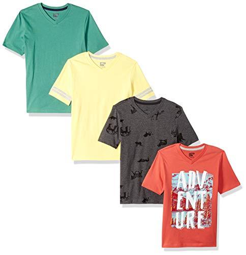 Marca Amazon - Spotted Zebra pack 4 camisetas manga corta para niños