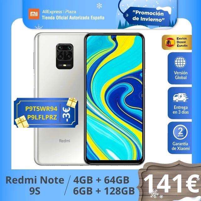 Xiaomi Redmi Note 9S 4GB 64GB desde España