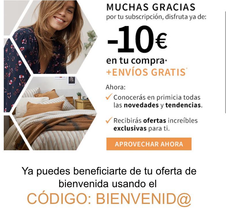 Descuento de 10 euros más envío gratis en La Redoute