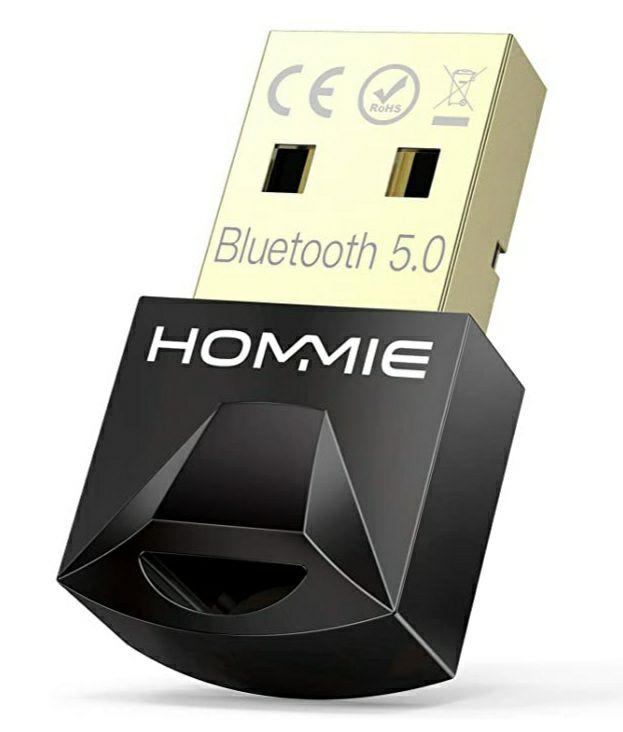 Adaptador de Bluetooth 5.0,Hommie Bluetooth USB PC Window7/8/8.1/10 (MÍNIMO HISTÓRICO)