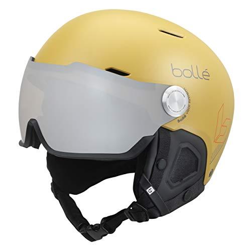 Bollé Backline Visor Casco de Ski Adultos Unisex - AMARILLO - TALLA 52-55 CMS
