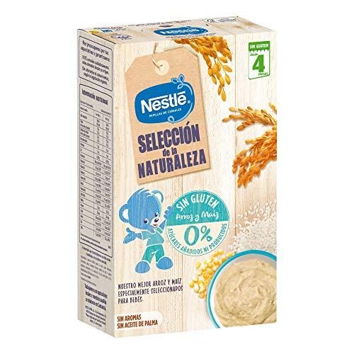 Pack de 6 estuches de Papilla Nestlé Selección De La Naturaleza Sin Gluten, A Partir De Los 4 Meses, 330 g unidad